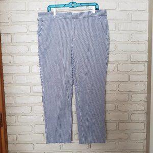 Banana Republic Seersucker Hampton Pants Size 14